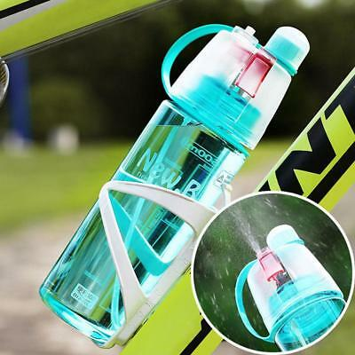 600ml Outdoor Bicycle Travel Gym Sport Mist Spray Water Bottles Drinking Cups