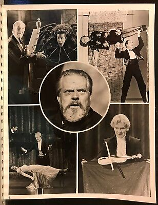Magic with the Stars Original B&W Photo 1981 Orson Welles, Vincent Price, More