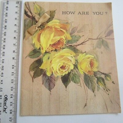Vintage Greeting Card How Are You ? 60s Sands Greetings Used yellow roses