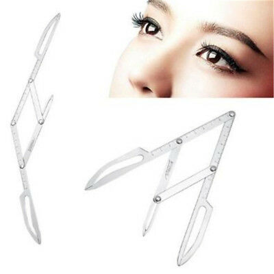 Professional Stainless Steel Microblading Calipers Golden Mean Ratio Ruler BS