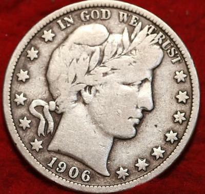1906-S San Francisco Mint Silver Barber Half Dollar