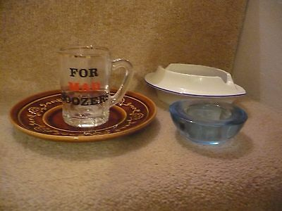 A Mixed Lot Of Items A Great Set A Vintage Saucer Candle Holder Tankard And Dish