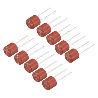 10Pcs DIP Mounted Miniature Cylinder Slow Blow Micro Fuse T8A 8A 250V Red