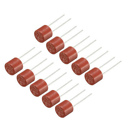 10Pcs DIP Mounted Miniature Cylinder Slow Blow Micro Fuse T2A 2A 250V Red