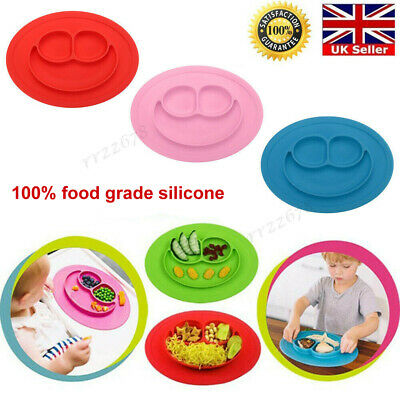 Silicone Cute Bowl Baby Kids Child Suction Table Mat Food Tray Placemat Plate