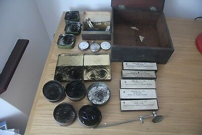 Watch, clock makers spare parts vintage job lot
