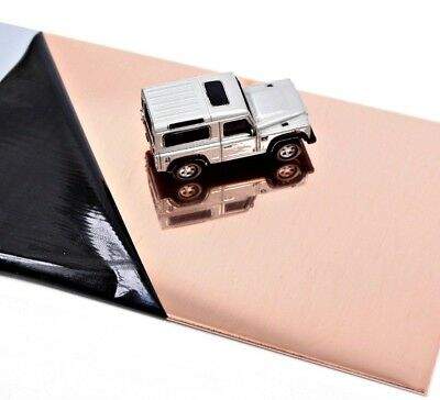 POLISHED COPPER SHEET Square 1.2mm 18's swg Thick Guillotine Cut New Metal Plate