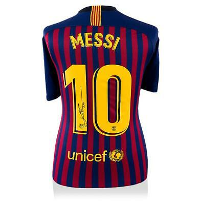 Lionel Messi Official Back Signed Barcelona 2018-19 Home Shirt Autograph