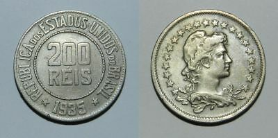 Brazil 200 Reis 1935 - Attractive Design