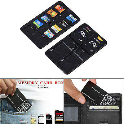 14 Slots Micro SD TF SDHC MSPD Memory Card Case Holder Protecter Storage Box