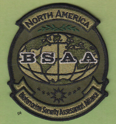 RESIDENT EVIL BSAA NORTH AMERICA BIOTERRORISM PATCH (Subdued- Green)