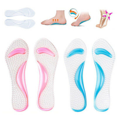 Silicone Gel Massage Insoles for High Heel Sandal Shoes Women Heel Care Soft Pad