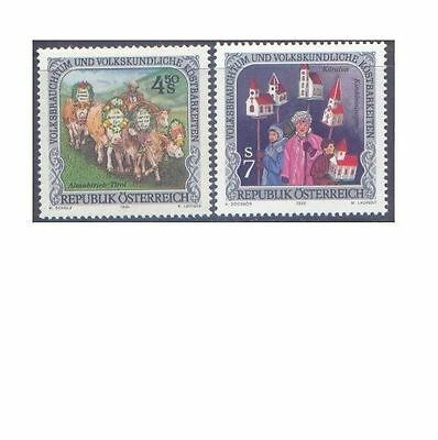 AUSTRIA 1991, 2000 FOLK CUSTOMS (2) Unhinged Mint SG 2274 etc