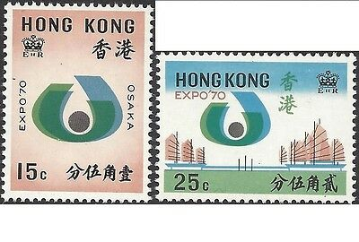 Hong Kong 1970 EXPO '70 WORLD FAIR OSAKA, JAPAN (2) UNHINGED MINT SG 263-4