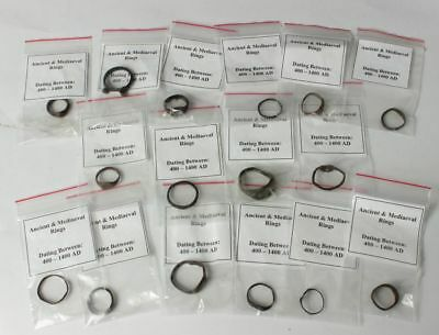 Ancient & medieval rings from ca 400 to ca 1400AD.. Roman to Byzantine period.