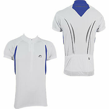 More Mile Summer Mens Cycling Jersey Half Zip Short Sleeve Bike Cycle Ride Top Activewear Tops