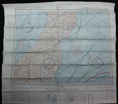 World War Ii Us Army Air Force Cloth Type Evasion Escape Map - Sendai, Kanazawa