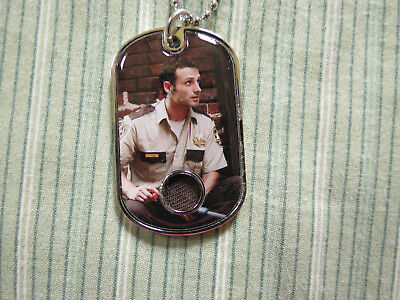 2018 The Walking Dead Memorable Moments Andrew Lincoln As Rick Dogtag Relic