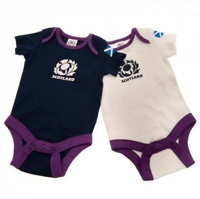 Scotland Rugby Football Union Baby Bodysuit 2-pack Size 0-3 months Free UK P&P