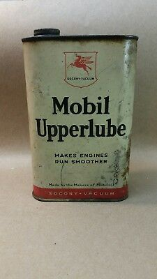 Vintage Mobil Oil Can Upperlube Socony Vacuum Pegasus Flying Red Horse Rare