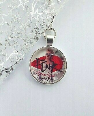 Pink  Photo Key Ring Strong Chain Singer Silver Plated Gift Boxed Party Birthday