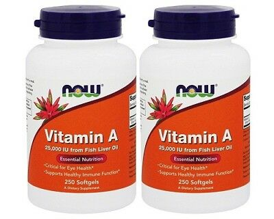 NOW Foods - Vitamin A 25000 IU , 250 Softgel