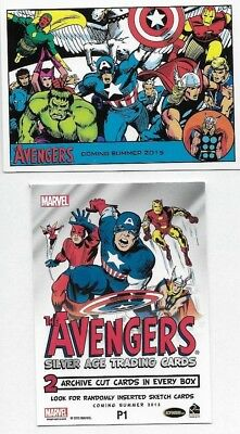 2015 The Avengers Silver Age Trading Cards Promo Card P1 Lot of 24