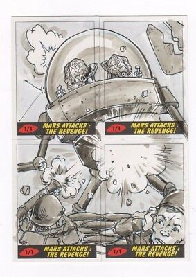 2017 Mars Attacks Revenge panel puzzle sketch ?