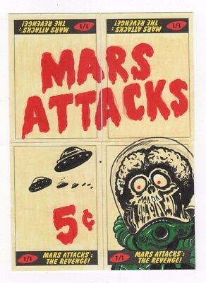 2017 Mars Attacks Revenge panel puzzle sketch Kelly Greider