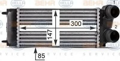 Hella AC INTERCOOLER CHARGER 8ML376700-514 OE 0384.H5 Replaces 8ML376899-241
