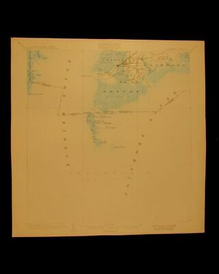 Crisfield Maryland Virginia vintage 1903 original USGS Topographical chart