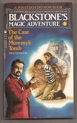 BLACKSTONE'S MAGIC ADVENTURE 1 The Case Of The Mummy's Tomb - Signed - Harry Jr.