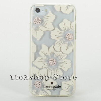 1407fe8db Kate Spade iPhone 7 iPhone 8 Hard Cover Snap Case Hollyhock Floral Clear  Cream