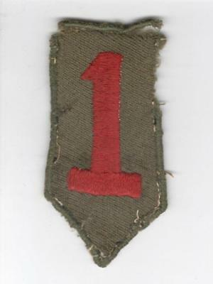 """3-1/2"""" WW 1 US Army 1st Division Patch Inv# V869"""