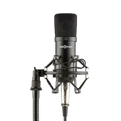 Professionelles Studio Kondensatormikrofon Microphone Podcast Streaming schwarz