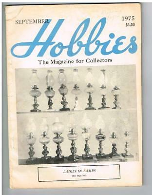 """HOBBIES The Magazine-For-Collectors September 1975 Featuring """"Ladies In Lamps"""""""
