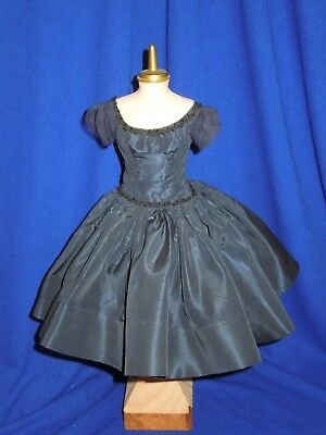 "vintage 50's Navy taffeta dress + slip for 20"" Madame Alexander Cissy doll, tag"