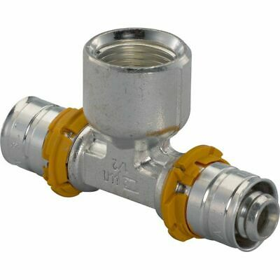 Uponor S-PRESS T-Piece with Female Thread,Brass,IG,Press Fittings,16,20,25,32