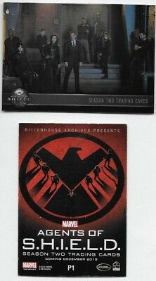 2015 Agents of S.H.I.E.L.D. Season Two Trading Cards Promo Card P1 Lot of 22