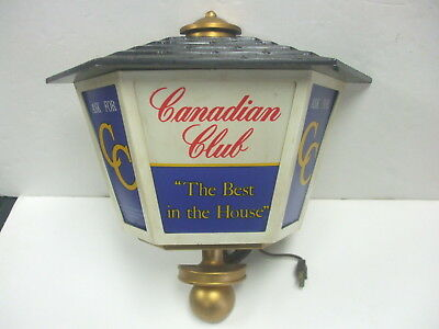 Rare Vintage Canadian Club Light Up Sign Sconce - Used Working Nice Condition