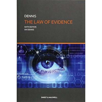 The Law of Evidence (Paperback) - Paperback NEW Dennis, Profess 23/05/2017