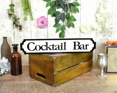 Miniature Cocktail Bar Vintage Style Wooden Road Sign Pub Sign