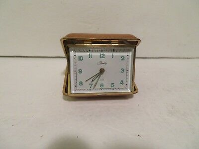 Vintage Us Zone  German Fold-Up  Travel Alarm Clock Bradley Time Corp