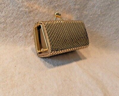 Retro Whiting Davis Gold Mesh Coin Change Purse