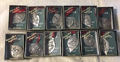 New Robert Hall Originals 12 Days Of Christmas Pewter Ornaments-Set Of 12