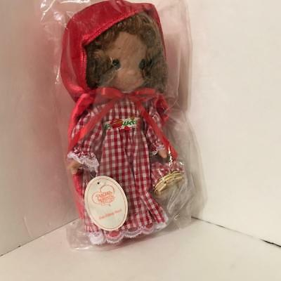 Precious Moments 3512 RED RIDING HOOD 9 inch Story Book Series Vinyl Doll, NWT