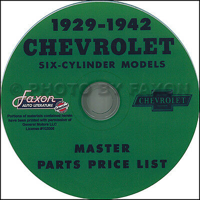 Chevy Parts Katalog CD 1929 1930 1931 1932 1933 1934 1935 Chevrolet Auto Truck