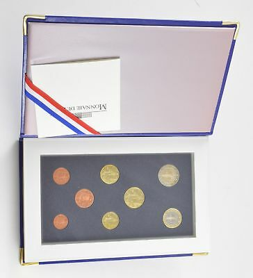 2000 French Euro 8 Piece Proof Set Coin Book - With CoA *6741