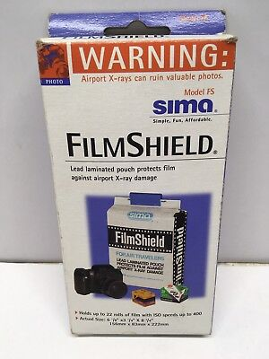 SIMA Film Shield Camera Lead Lined Bag Airport Travel X-ray Holds 22 rolls