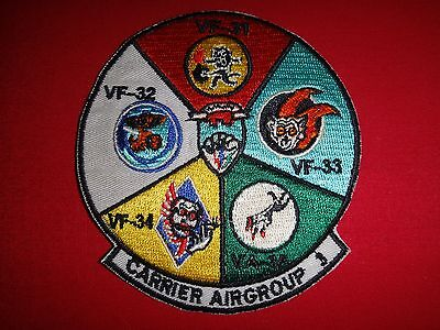 Uns, Marine Träger Luft Gruppe 3 With Vf-31,Vf-32,Vf-33,Vf-34 And Vf-35 Patch